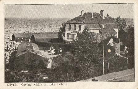 Gdynia, Kamienna Góra, letnisko Boboli, polski okres  międzywojenny, budowa Gdyni, historia Gdyni, stara pocztówka