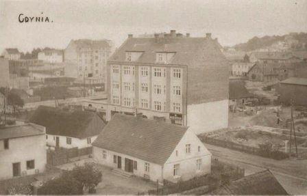 Gdyni ul. Starowiejska. Stara pocztówka z okresu budowy miasta Gdyni.