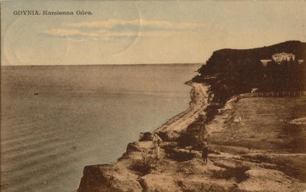 Gdynia, Kamienna Góra, polski okres  międzywojenny, budowa Gdyni, historia Gdyni, pocztówka
